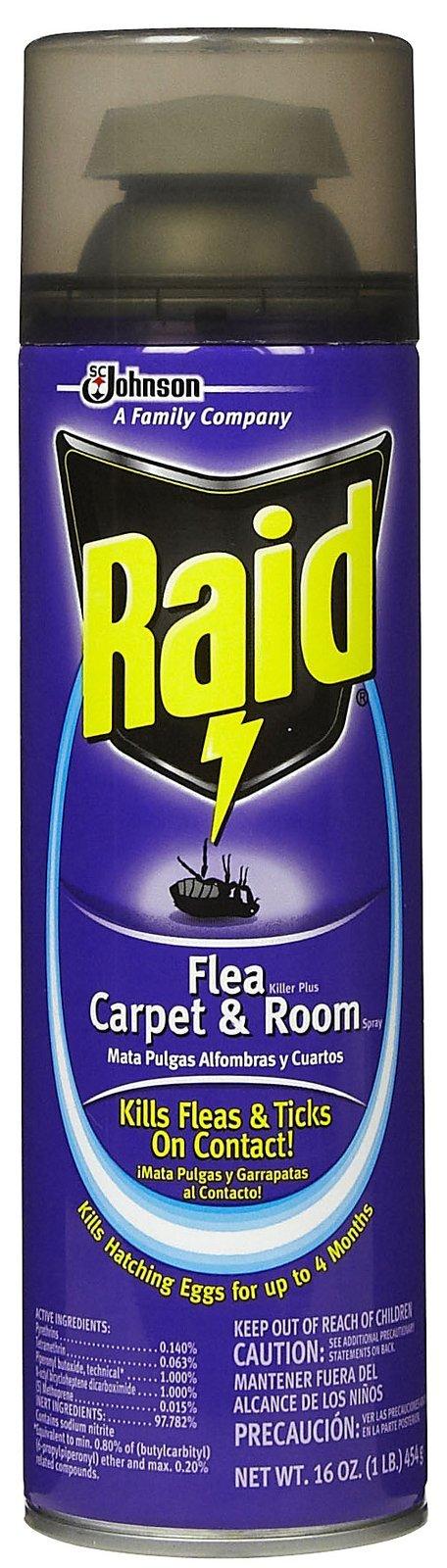 Raid Flea Killer Plus, Carpet and Room Spray-16 oz.