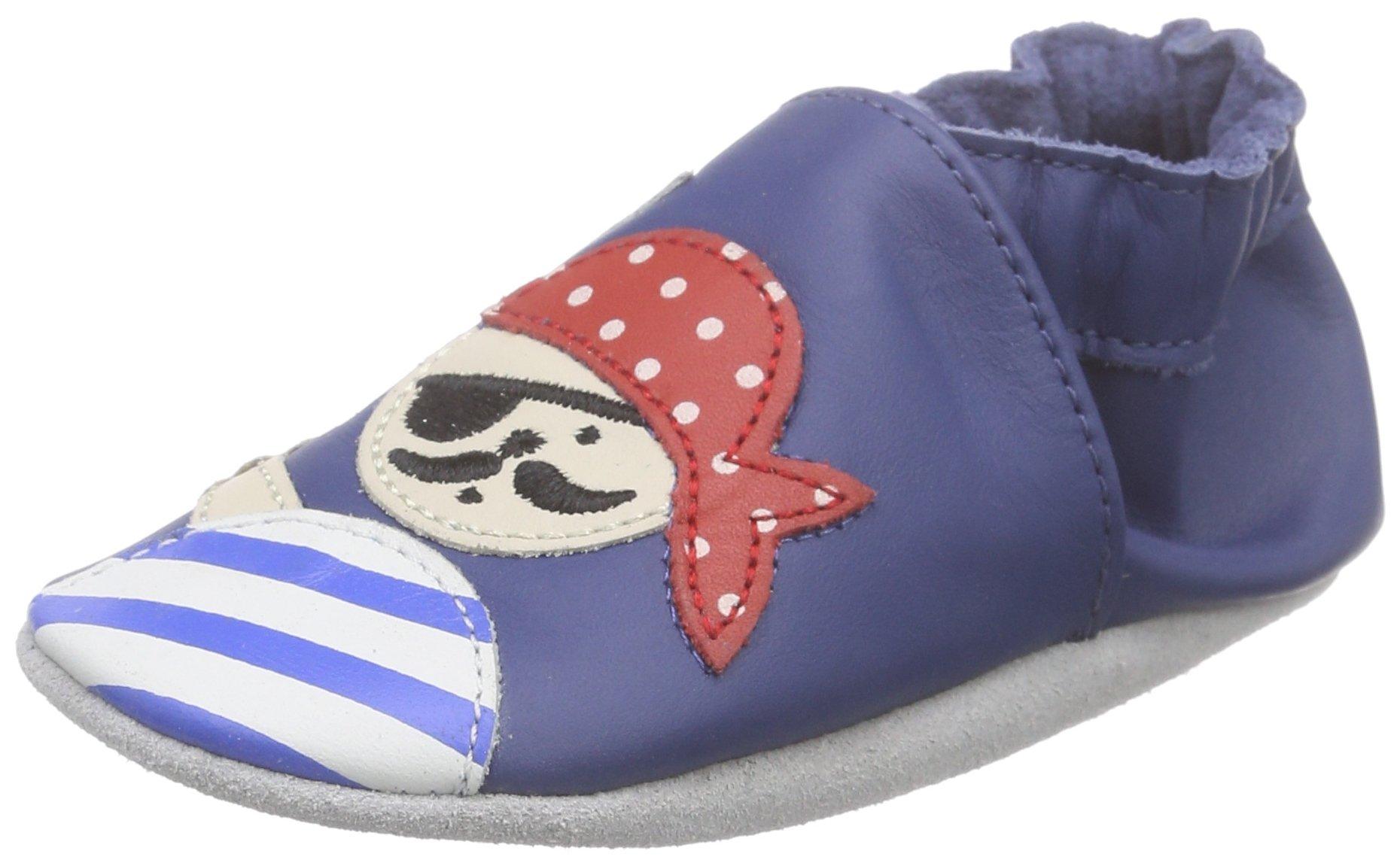 Robeez Baby Boys Jolly Peg Birth Shoes BLEU BLEU FONCé