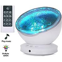 Lámpara Proyector,Luz de Noche +Control Remoto+Temporizador,8 Modo Color+6