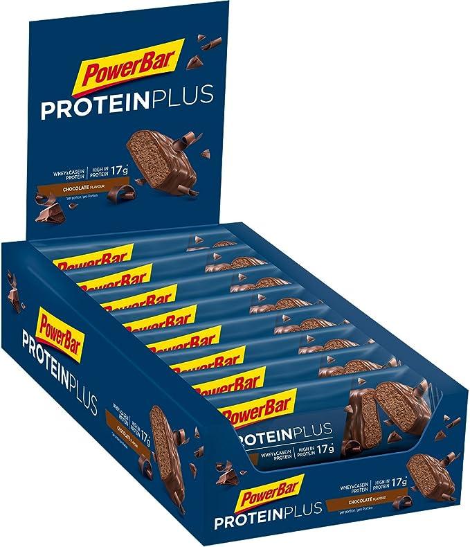 PowerBar Protein Plus 30% Chocolate 15x55g - Barra de alta Proteína + Suero y Proteína de Caseína