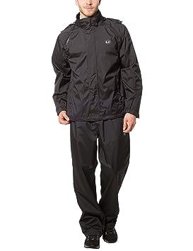 Ultrasport Traje Impermeable para Hombre Harry - Traje de Lluvia para Moto o Ciclismo - Conjunto de Chaqueta y Pantalón Impermeable - Chubasqueros: ...