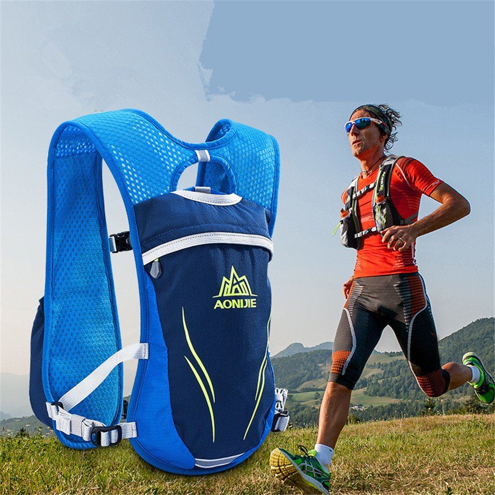 Amazon.com : AONIJIE Running Vest Pack Lightweight Water Hydration Backpack Hiking Marathon Hydration Vest Sport Bag 2 250ml Water Bottle, M/L-Blue : Sports ...