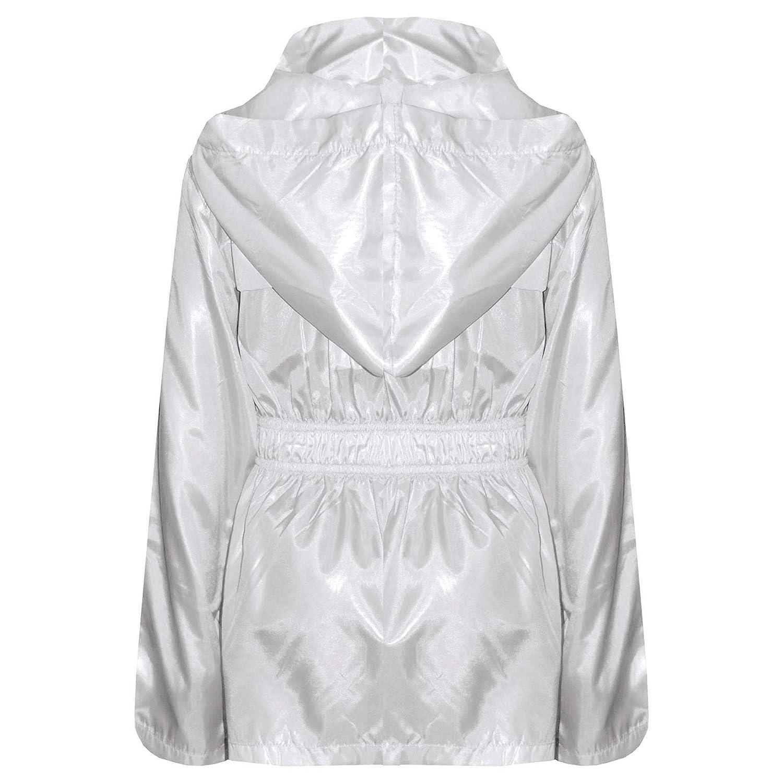A2Z 4 Kids/® Kids Girls Boys Raincoats Jackets Designers White Light Weight Waterproof Kagool Hooded Cagoule Rain Mac Coats New Age 5 6 7 8 9 10 11 12 13 Years