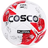 Cosco Platina Men's Footballs, Size 5 (White/Red)