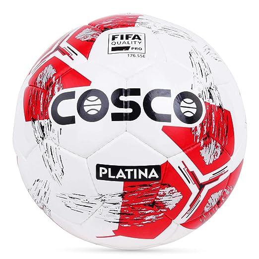 Cosco Platina Men's Footballs, Size 5  White/Red  Recreational Balls