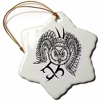 Amazon Com 3drose Edmond Hogge Jr Tattoos Tribal Owl Tattoo 3