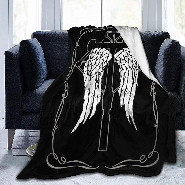 New Daryl Dixon /& Bazooka The Walking Dead Fleece Sherpa Gift Throw Blanket SOFT