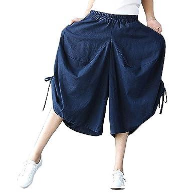 Rinalay Pantalon De Tela Elastische Cordón con Mujer Verano con ...