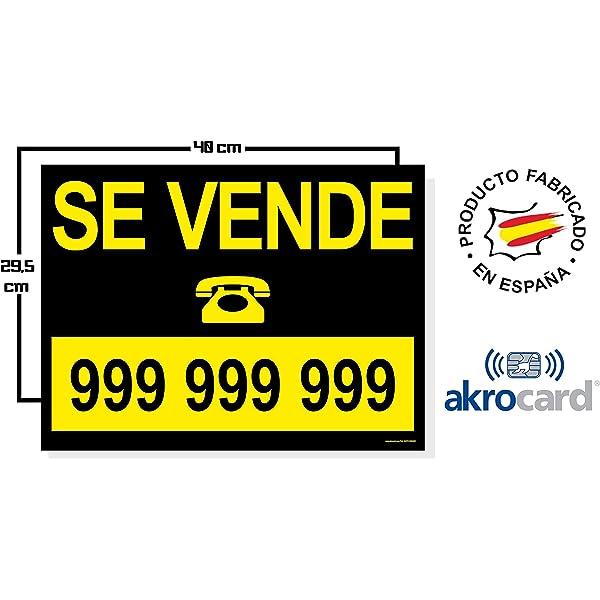 Cartel en Vinilo de Se Vende 50x70cm | Señaletica Adhesiva ...