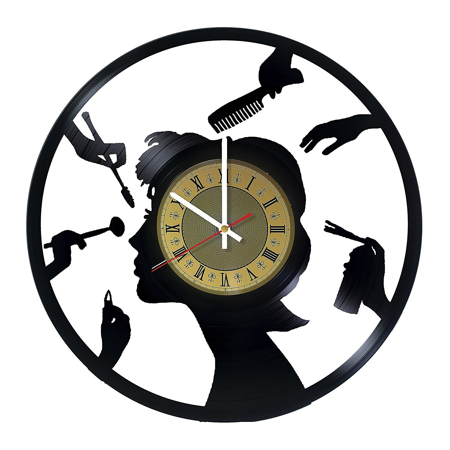 Amazon hairdressers equipment vinyl record wall clock gift amazon hairdressers equipment vinyl record wall clock gift idea for hairdressershair stylists barbers hair stylists barber shops and beauty amipublicfo Images