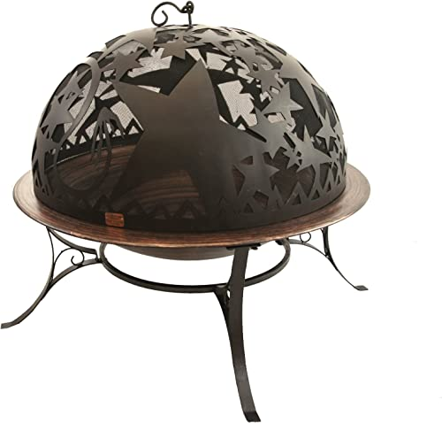 Good Directions FD-3 Orion 30-Inch Copper-Finished Steel Fire Dome with Built-In Spark Screen