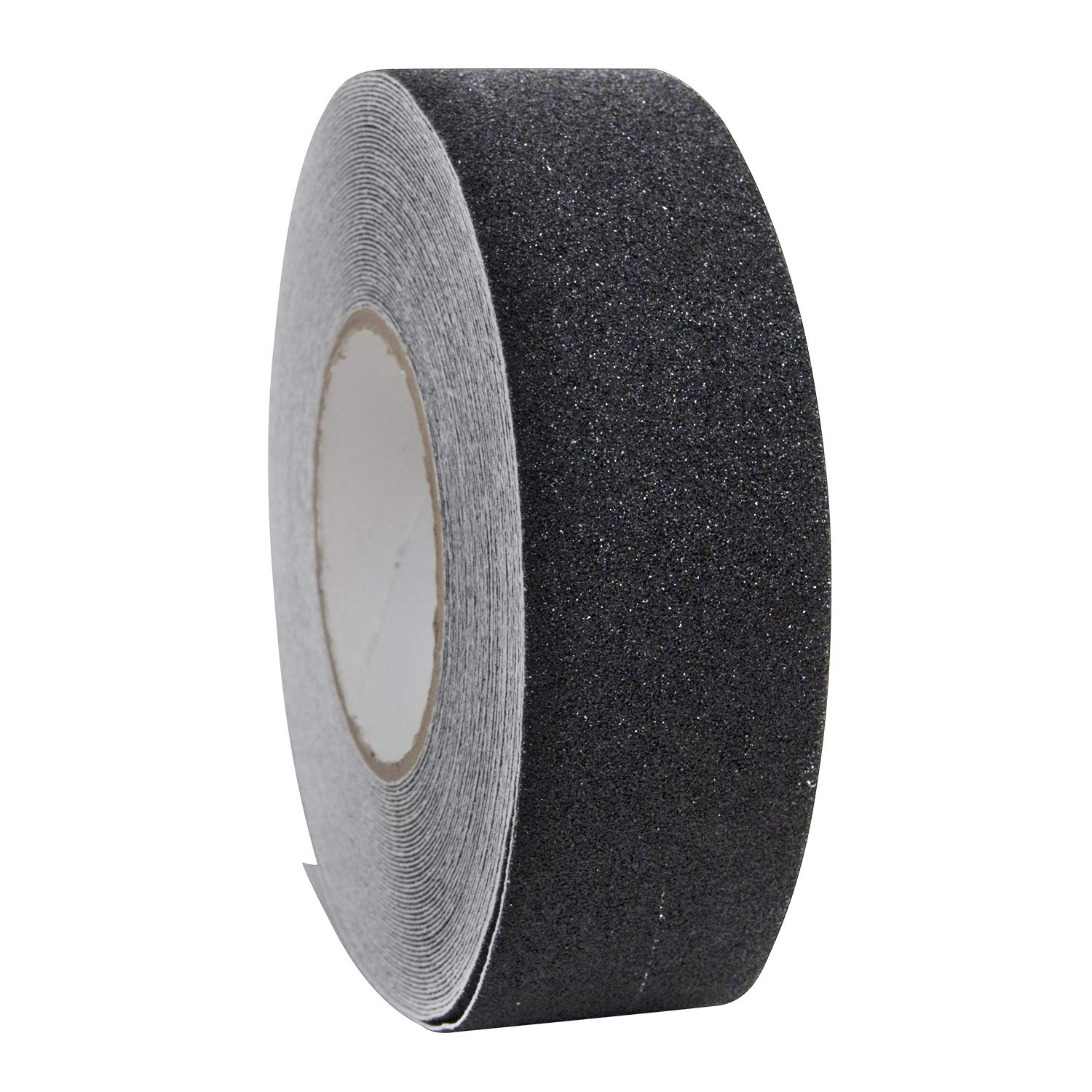 Houseables Anti Slip Tape Grip Tapes Black 80 Grit 60' x 2 Treads Non Slip Safety High Friction Strong Abrasive for Boats Steps Stairs Ramps Ladders Forklifts Indoor Outdoor