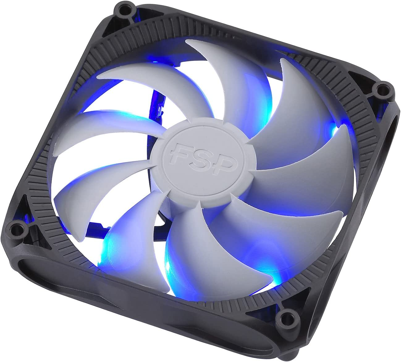 FSP 120mm Quiet Sleeve Bearing Case Fan Blue LED for Computer Cases (CF12S11)