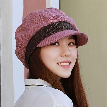 8721ee926b43e Girlfriend boyfriend Holiday gifts Ms. Winter Hat Women children big Bailey  duck tongue octagonal cap