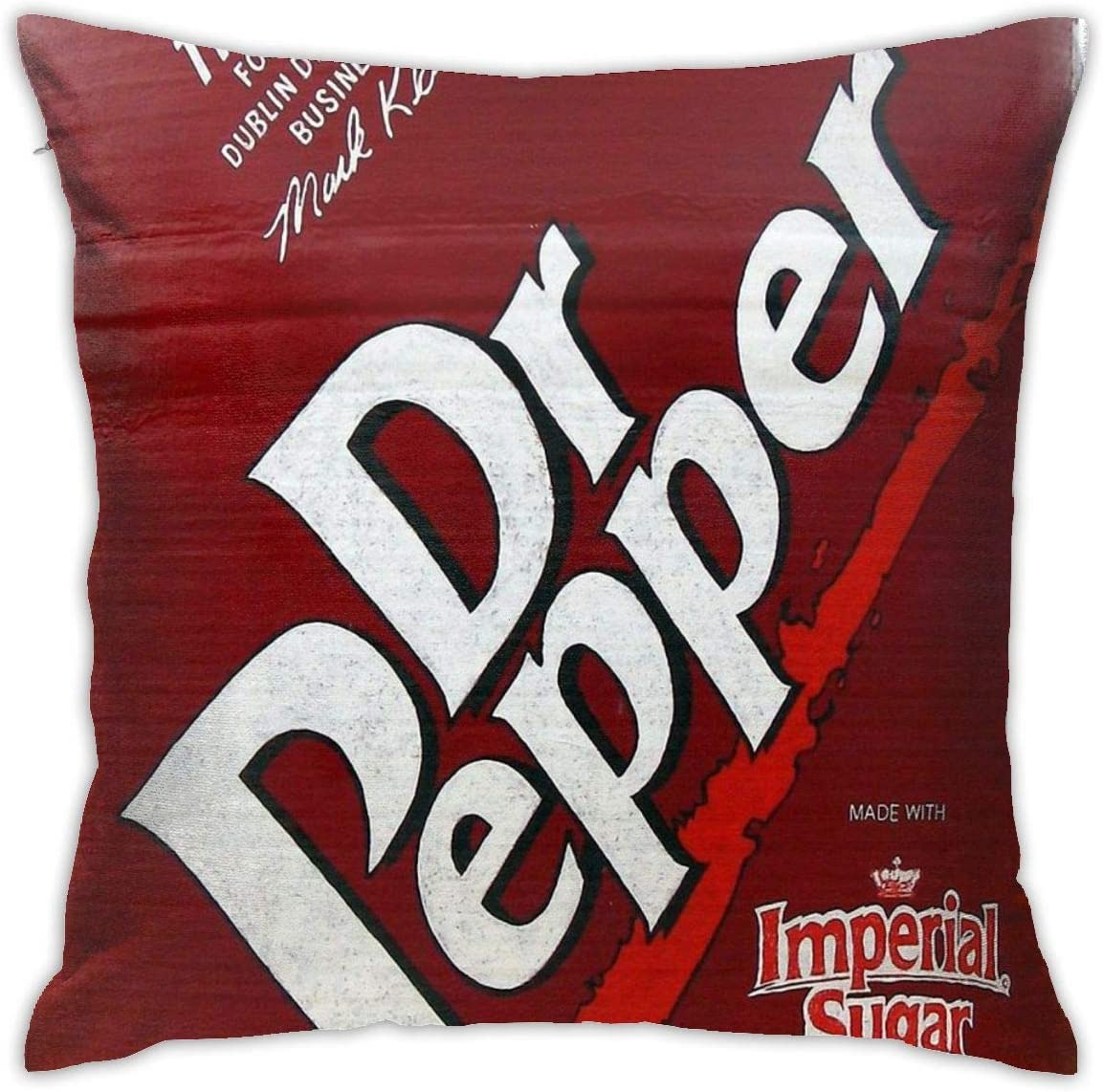 ZHUHOO Now This is Alot of Dr Pepper Bedroom Couch Sofa Square Pillow Case Home Decorative Throw Pillow Covers 18x18 Inch