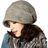 e1e1e50b337 Kenmont Womens Autumn Winter Slouch Beanie Beret Cap with Short Visor  Vintage Skull Cloche Hat Outdoor Snow Ski Caps…