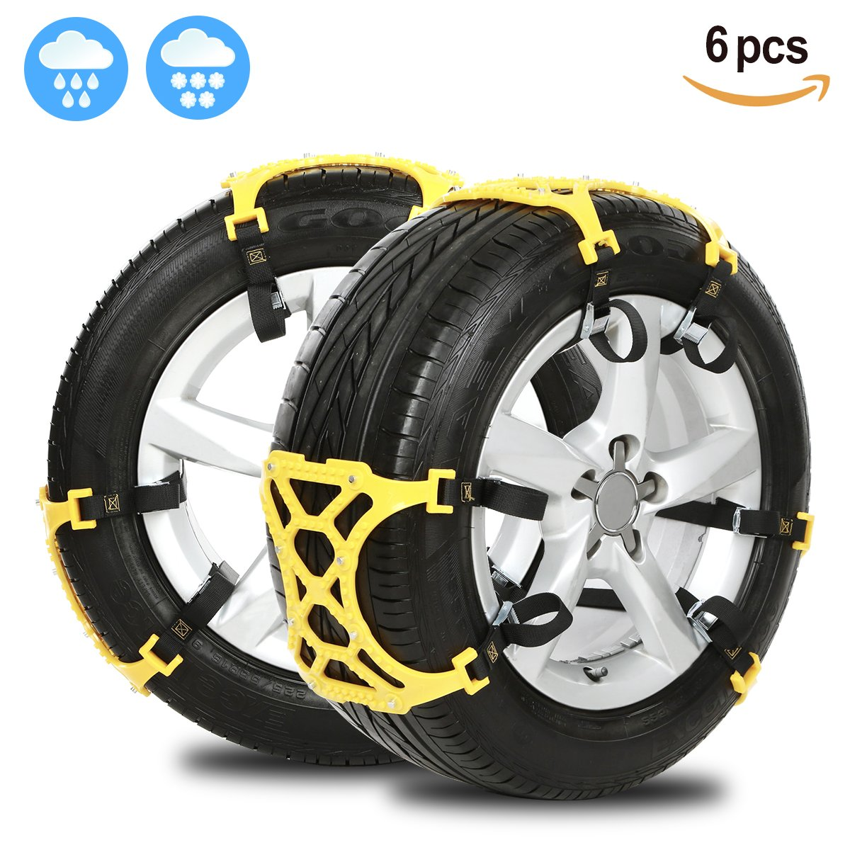 Anti Snow Chains of Car , SUV Chain Tire Emergency Thickening Anti--Skid Chain -Set of 6 TZ Car Accessories
