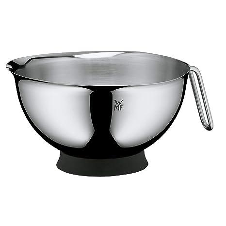 WMF Function Bowls Fuente para batir con asa y Base, Acero Inoxidable Mate, 20 cm