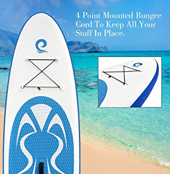 WOWSEA Tabla Hinchable Paddle Surf, 2018 Paddle Board Hinchable con tamaño 320 * 81 * 15cm, Carga hasta 135kg - Azul: Amazon.es: Hogar