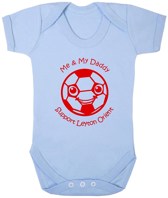 Hat-Trick Designs Leyton Orient Football Baby Babygrow/Vest/Bodysuit/Romper-White/Blue/Pink-Me & My-Unisex Gift