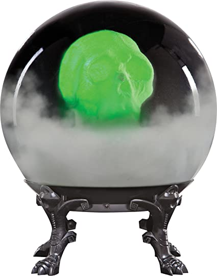 Amazon Crystal Ball With Phantom Skull Halloween Prop Spooky Best Halloween Crystal Ball Decoration