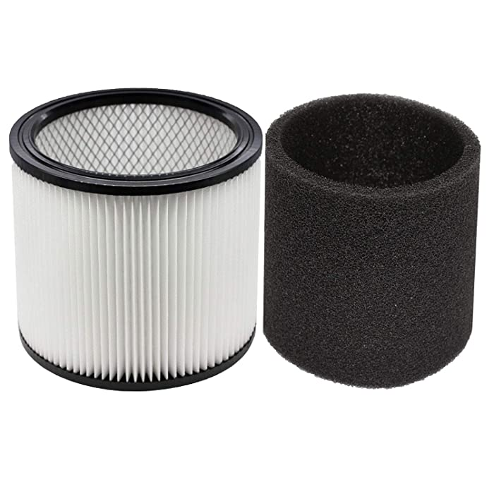 YUEFENG Foam Sleeve Filter for Shop-Vac 90350 90304 90333 Replacement fits Most Wet/Dry Vacuum Cleaners 5 Gallon and Above, Compare to Part # 90304, 90585 (1+1)