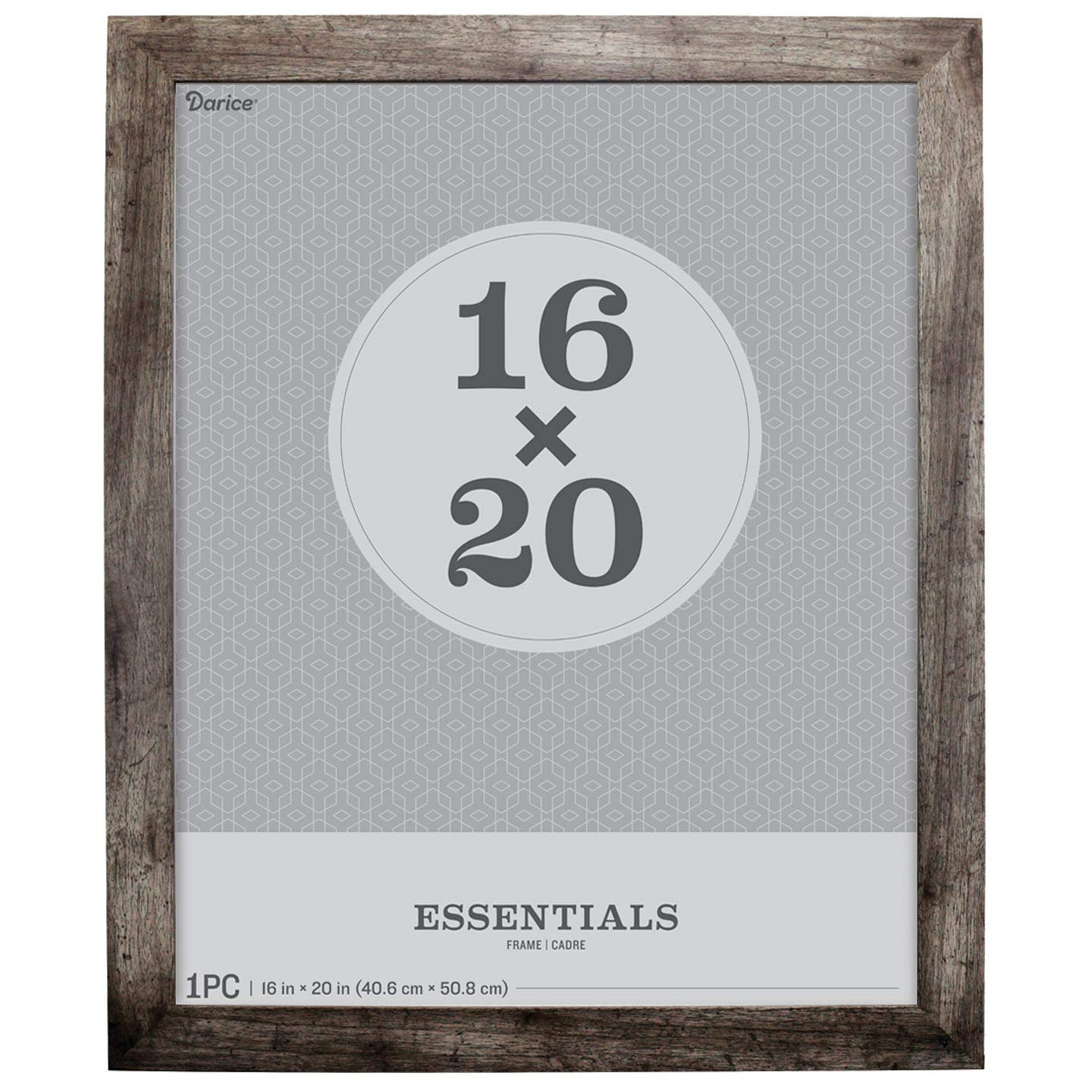 Darice Wall Frame: Grey, 16 x 20 Inches by Darice