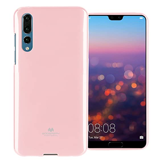 huge selection of d638c a2d62 Huawei P20 Pro Case with Screen Protector [Slim Fit] Mercury Marlang Pearl  Jelly [Flexible] Rubber TPU Case [Lightweight] Protective Bumper Cover for  ...