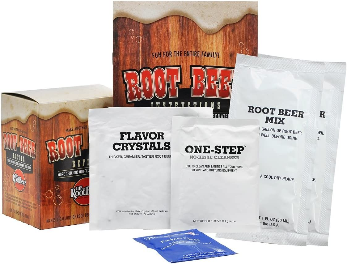 Mr. Root Beer Home Brewing Root Beer Refill Kit