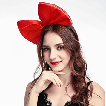 Amazon.com   Cute Big Bow Headband for Women Girls Bowknot Hairband Hair  Hoop Costume Accessories (Red)   Beauty edef085d011