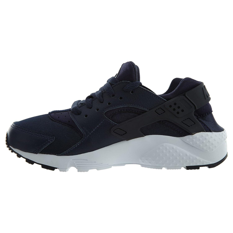 NIKE Air Huarache Run SE (GS)  sneakers B073NBFVRM 4.5 M US|Obsidian/Obsidian-white-black