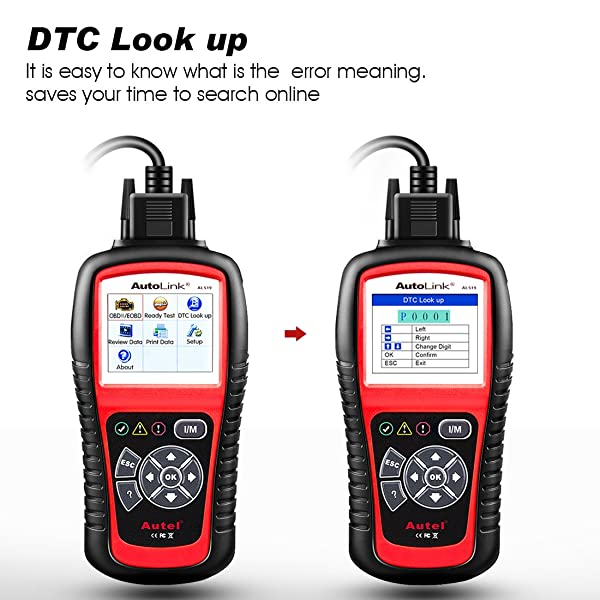 Autel AL519 is an primary code reader that displays DTC definition on the TFT color screen