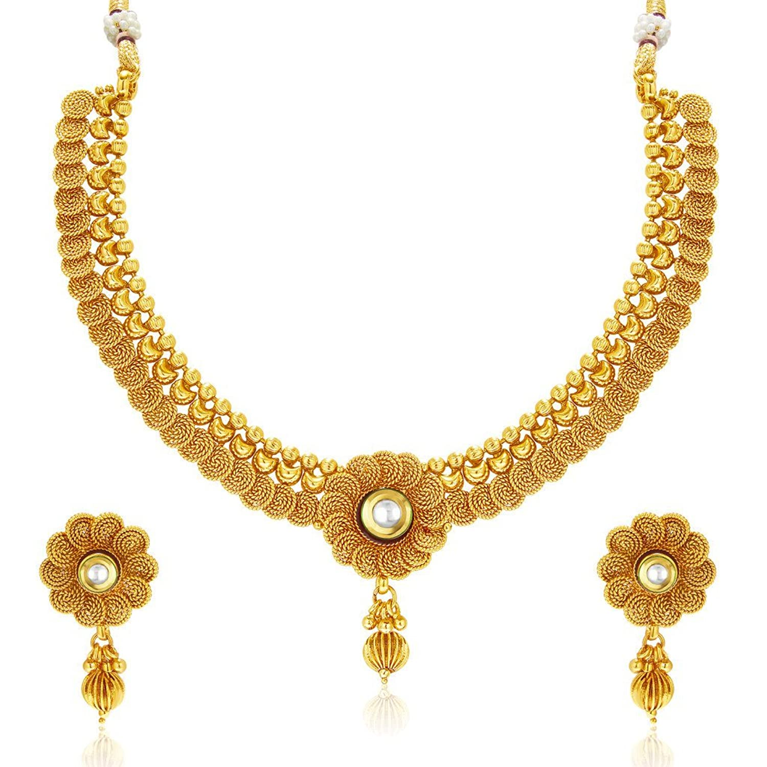 Gold necklace designs with price in rupees jewelry gallery - Buy Sukkhi Eye Catchy Jalebi Design Gold Plated Necklace Set For Women Online At Low Prices In India Amazon Jewellery Store Amazon In