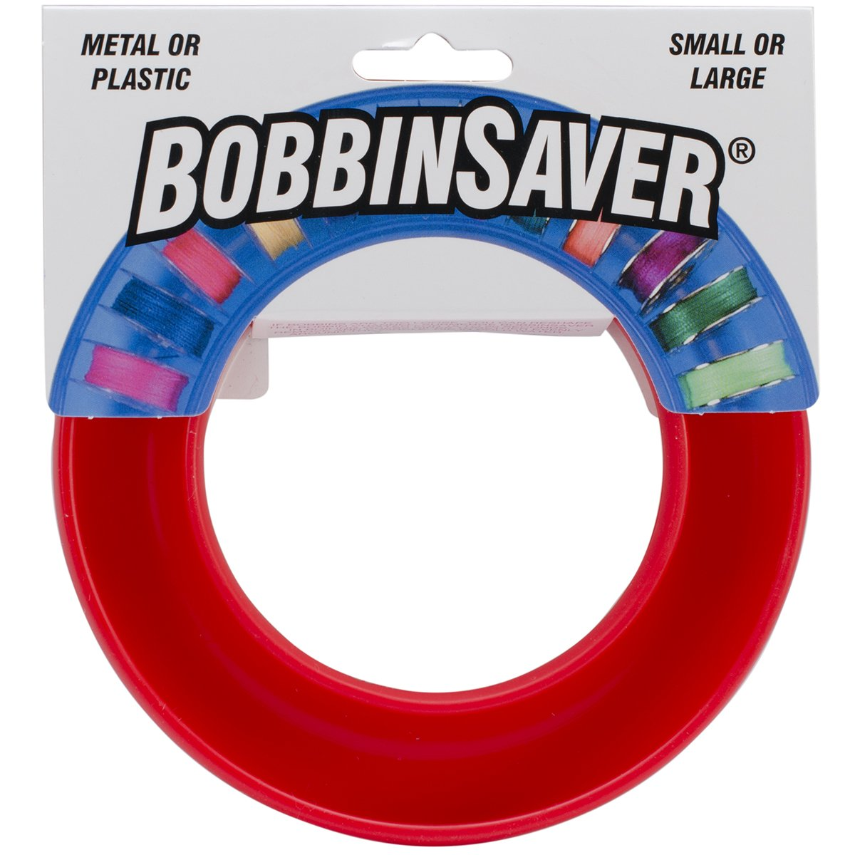 BobbinSaver Sewing Machine Bobbin Organizer - Holds 20+ Bobbins - Red product image