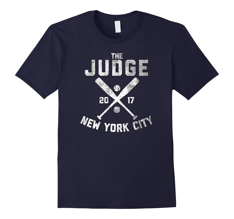 JUDGE New York 2017 Baseball Distressed T Shirt-T-Shirt