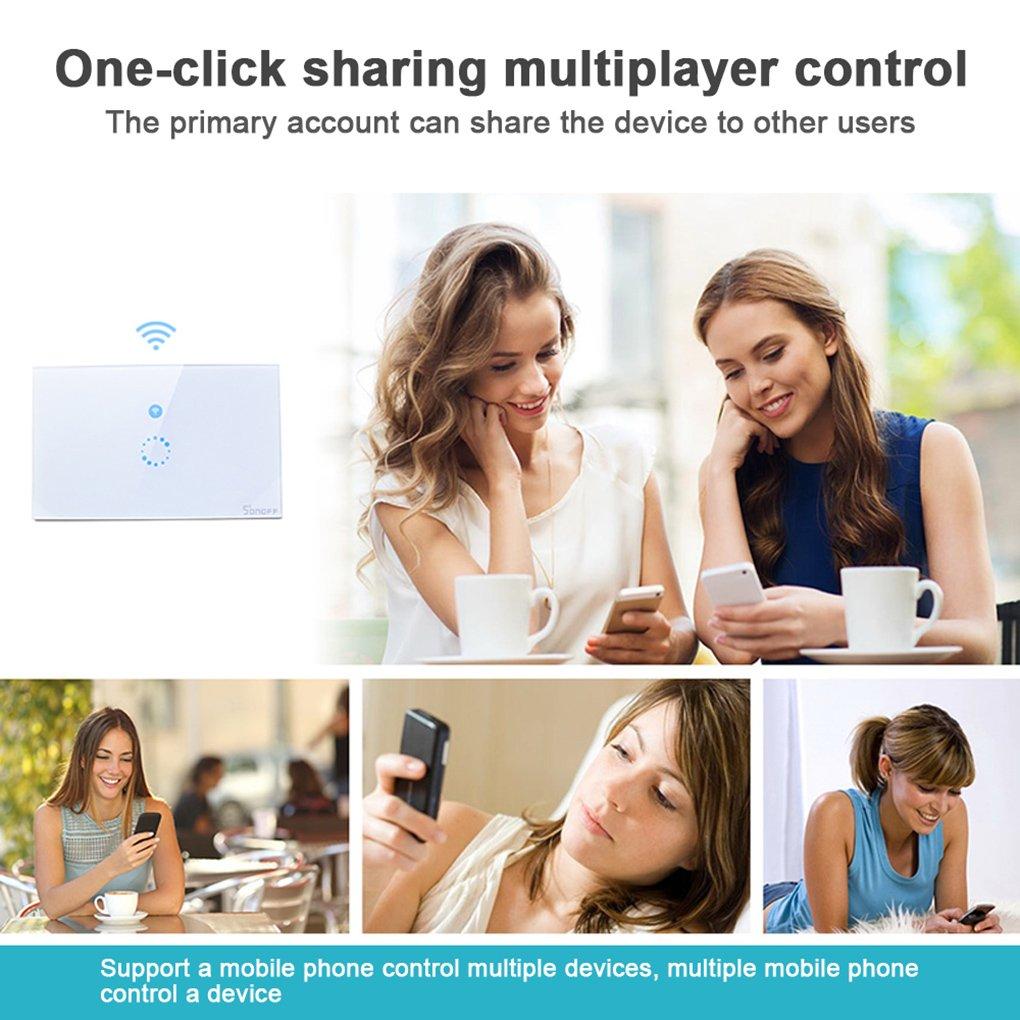 WIFI Smart Sonoff Touch-Schalter Drahtlose Smart-Phone-Fernbedienung ...