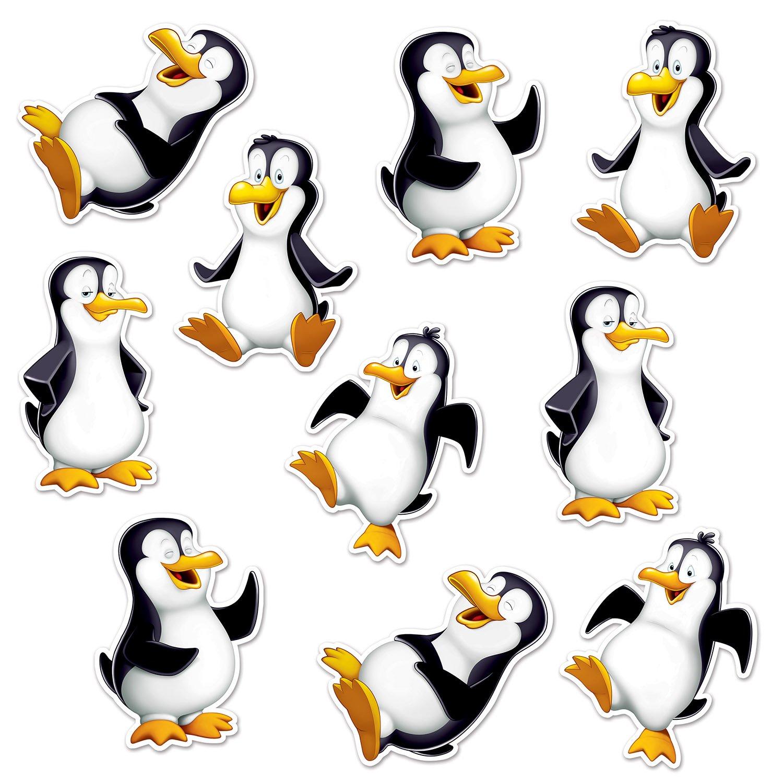 Amazon Beistle 22272 Mini Penguin Cutouts 625 10 In Package Kitchen Dining