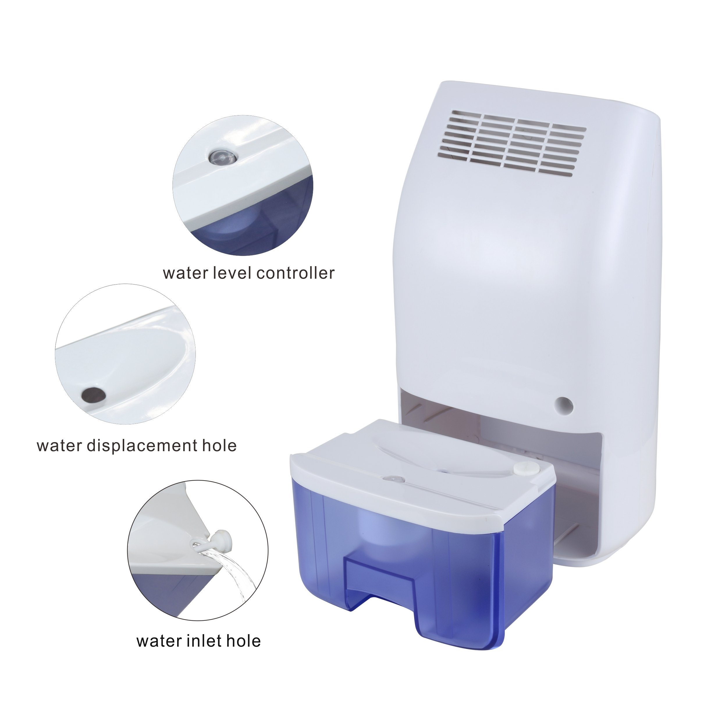 Afloia Dehumidifier Mini for Small Room 700ml Small Dehumidifier Queit Portable Air Dehumidifier for Home