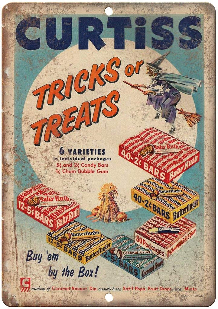 Shunry Curtiss Candy Bar Tricks or Treats Placa Cartel ...