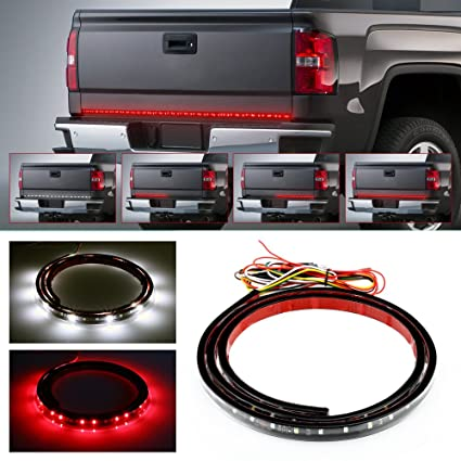 Amazon truck tailgate side bed light strip barautolover led truck tailgate side bed light strip barautolover led truck tailgate light bar strip red aloadofball Gallery