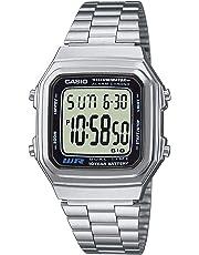 Casio Orologio Digitale al Quarzo Unisex con Cinturino in Acciaio Inox A178WEA-1AES