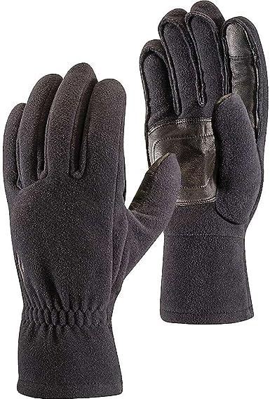 Black Sporting Fleece Gloves