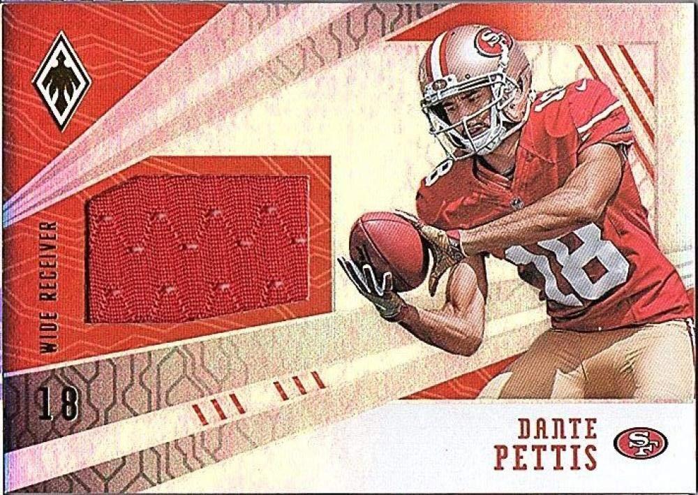 2018 Panini Phoenix RPS Memorabilia #21 Dante Pettis Game Used Jersey //100 49ers