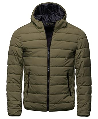 43b375baca29 EightyFive Herren Übergangsjacke Stepp-Jacke Gesteppt Schwarz Blau Khaki  EFS176, Größe XXL,