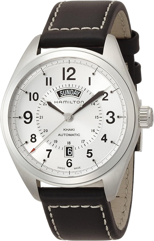 Hamilton Men s H70505753 Khaki Field Analog Display Mechanical Hand Wind Black Watch