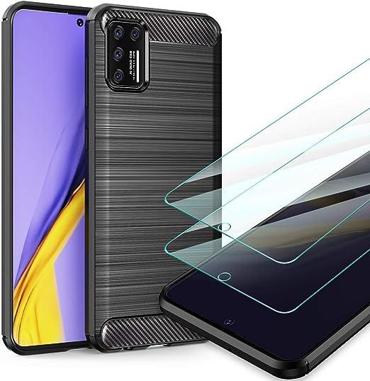 Flexible TPU Silicona y Hard PC Caso-Negro Ttimao Compatible con Funda Samsung Galaxy A51 4G 360/° Cuerpo Completo Anti-Shock Transparente Cubierta Protector de Pantalla