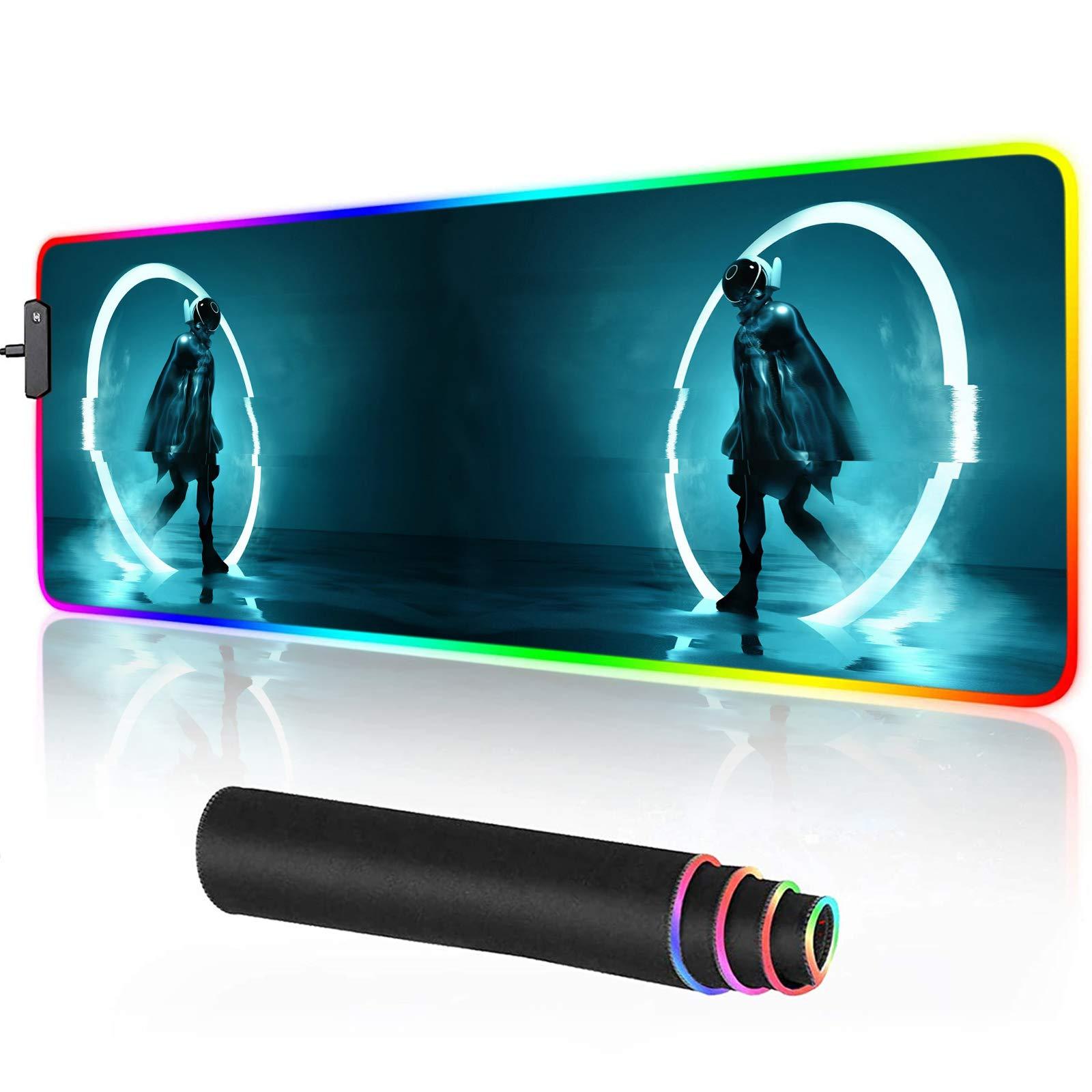 Mouse Pad RGB Gamer Antideslizante UZHOPM -8MVNBD4Q