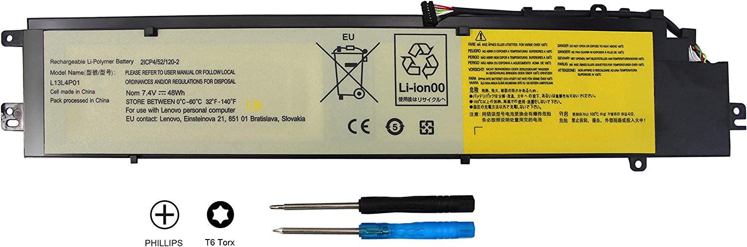 EBOYEE Y40-70 Battery Compatible Lenovo Erazer at-IFI Y40-70AT L13M4P01 Y40-70AT-IFI L13L4P01 Y40-80 L13C4P01 Y40-80-IFI Y40-70AM Y40-80AT-ISE Y40-70AS Laptop Batteries 7.4V 48WH
