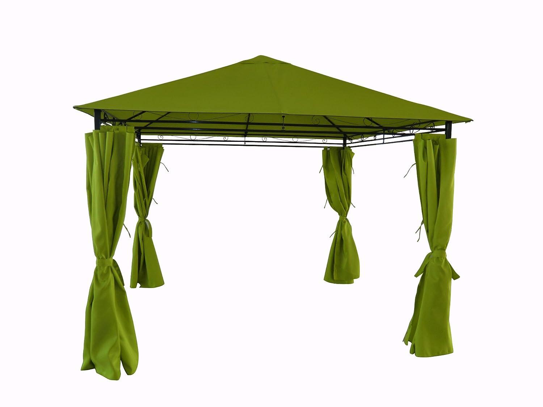 Tente de jardin pergola 3x3m Tolosa toile vert pomme barnum tonnelle ...