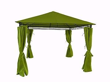 Tente de jardin pergola 3x3m Tolosa toile vert pomme barnum ...